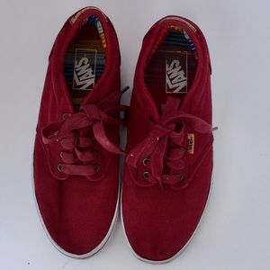 Vans Brick Red Tie Sneakers